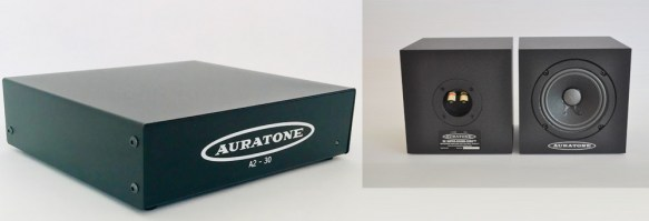 Auratone A2-30 Amplifier with Black 5C Monitor Speakers